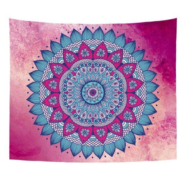 Comwarm Short Plush Tapestry Bohemia Indian Mandala Wall Hanging ...