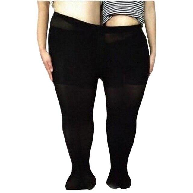 05652ce42 3 pcs Primavera Verão Feminino Calças Justas Elastic Big Plus Size Mulheres  Nylons Meia-calça