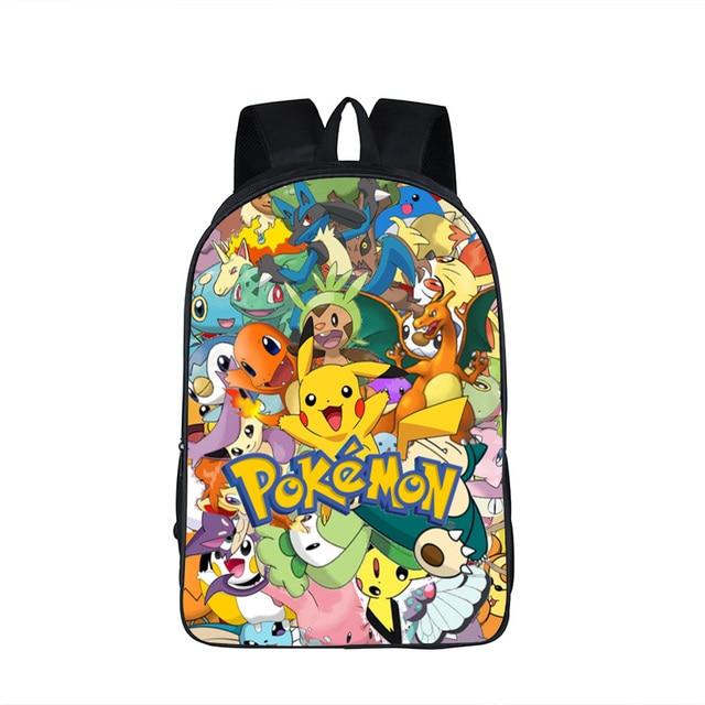 4dcf23441459e7 Anime Pokemon Zaino Ragazzi Ragazze Sacchetti di Scuola Dei Bambini Pikachu  Zaino Per Gli Adolescenti Regalo