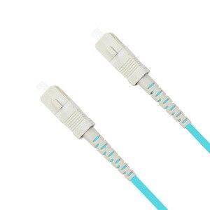Image 4 - 5 m LC SC FC ST UPC Cable óptico Simplex OM3 multimodo de PVC de fibra óptica de 2,0mm Cable de parche de fibra patchcord óptica puente