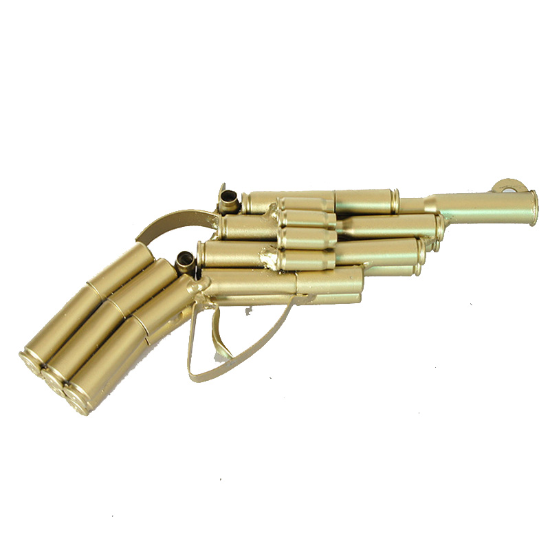 Casa De Muñecas Par De Plata Mano Guns//Pistolas