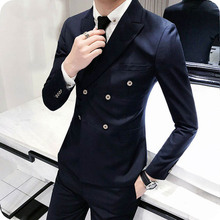Latest Coat Pant Designs Navy Blue Men Suits Prom Party Wedding Burgundy Groom Tuxedos Slim Fit Terno Masculino 2Piece