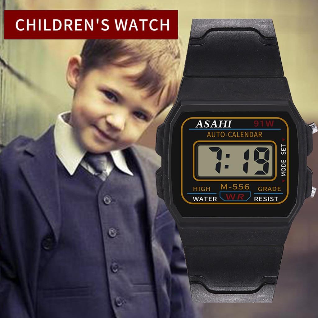 ASAHI Fashion Casual Luxury Children Student Watch Analog Digital Sport LED Waterproof Silicone Clock Wrist Watch New Reloj Nio