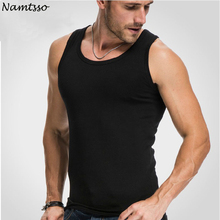 Mens Close fitting Vest Fitness Elastic Casual O neck Breathable H Type