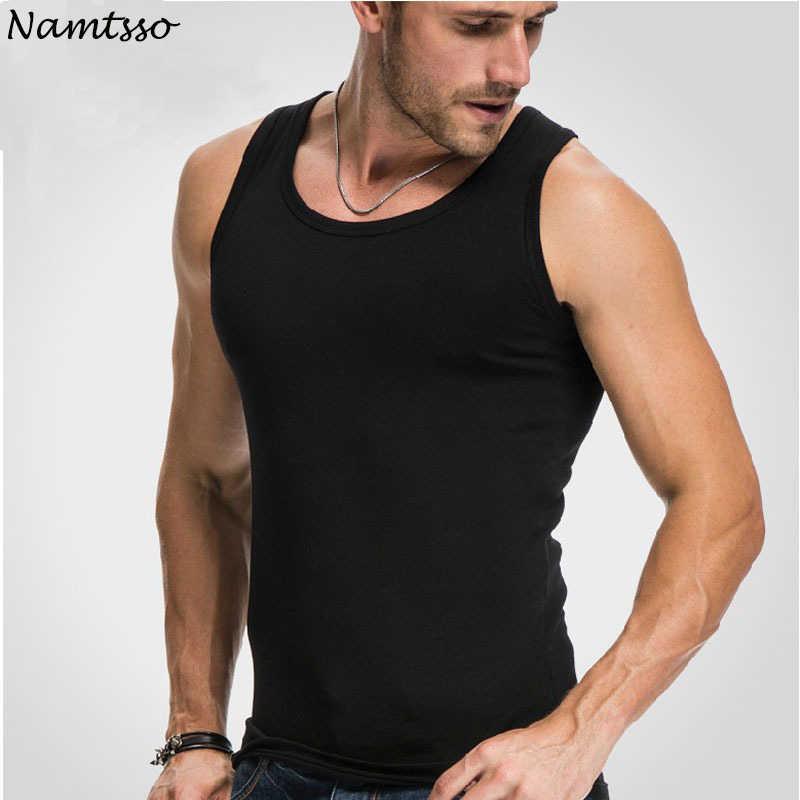 メンズぴったりベストフィットネス弾性カジュアル O ネック通気性の H タイプすべて綿固体肌着男性タンク