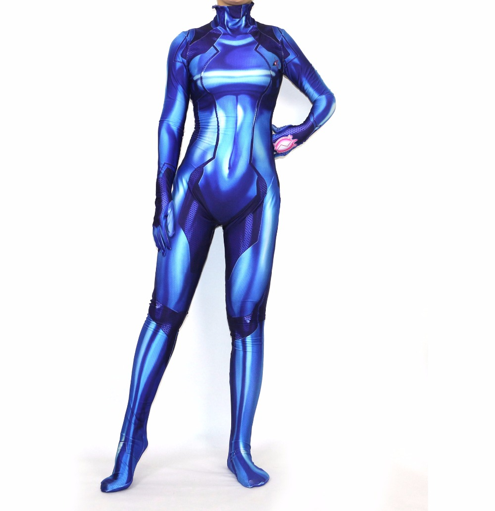 3 d numeral printing METROID Samus zero cosplay All Saints' Day A jumpsuit costume customization
