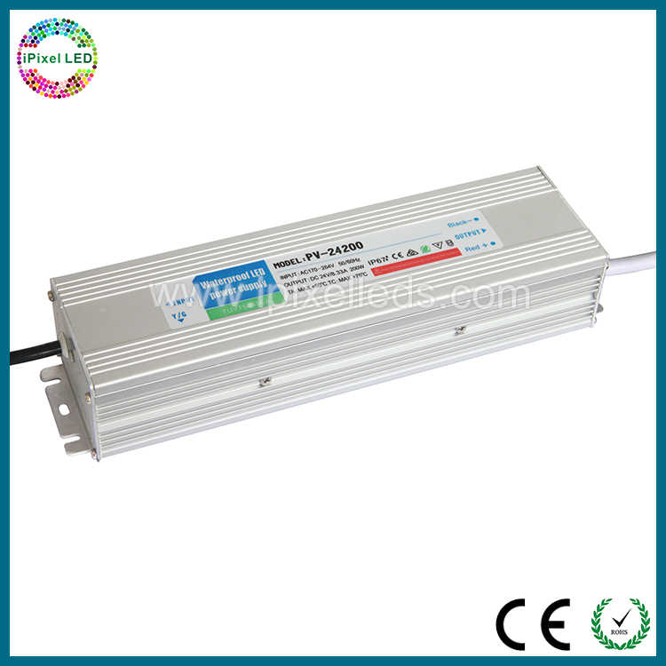 Aluminium tahan air ip67 24 v 30 w daya tinggi led driver, led transformator untuk strip dipimpin