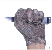 Both hand can use Stainless Steel Metal Mesh Cut Resistant Level 5 Glove Butcher Proof Meat Process Safety Protection Mitten