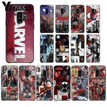лучшая цена Yinuoda Cool Male Marvel Avengers  Hot Selling Fashion Design Cell Case For GALAXY s6 edge edge plus s7 edge s8 plus s9 plus s10