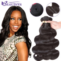 Beaudiva Brazilian Body Wave Hair Weave 4 Pieces Unprocessed Natural Color Remy Human Hair 8 26