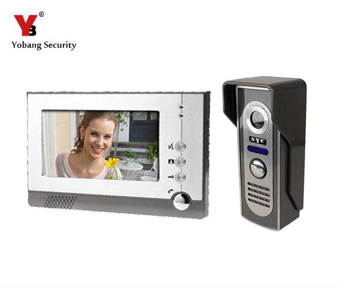 Yobang Security 7 TFT LCD Color Video Door Phone , Doorphone Doorbell Door Camera Kit,IR Camera with Night Vision lcd wired video security doorphone camera tft screen video interphone infrared night vision doorbell intercom