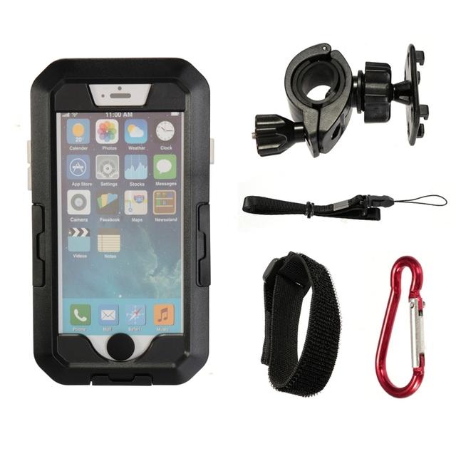Alta qualidade à prova d' água ipx8 caso cobertura universal da bicicleta da motocicleta suporte phone holder suporte para iphone 6 plus 5.5 telefone''