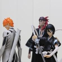 3pcs/set 16cm Bleach Kurosaki ichigo Kuchiki Rukia Abarai Renji PVC Action Figures