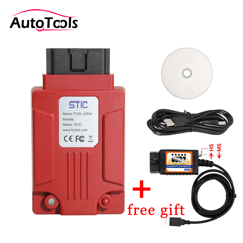 Professional FVDI J2534 and elm327 open hidden free gift car diagnostic Tool Support Online Module Programming