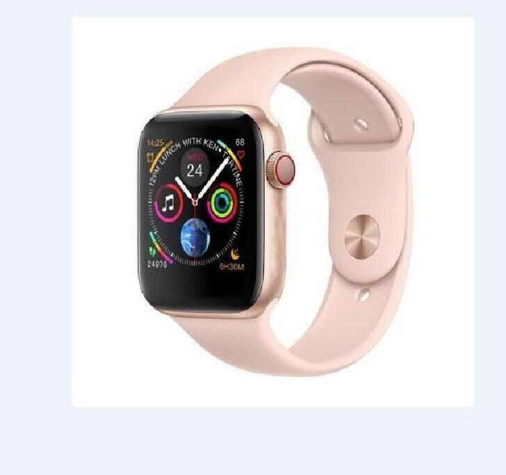 ROSE GOLD Smart Watch Series 4 Sport Smartwatch 44mm IWO 8 for apple iphone 6s 7 8 X plus for samsung Smart Watch honor 3 sony 2
