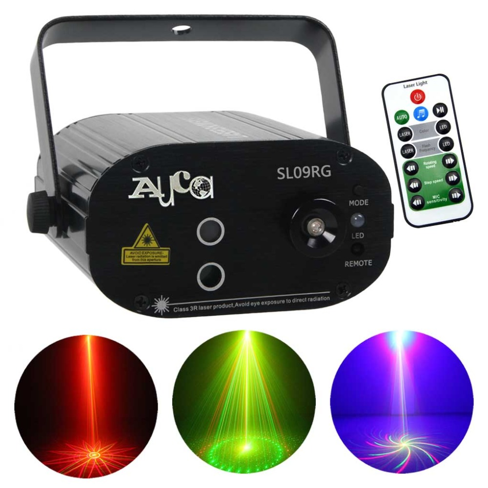 Mini 9 Big Red Green Laser Gobos Projector Lights 3W Blue LED Mixing Effect Home Party Show Stage Lighting Remote Music SL09RGMini 9 Big Red Green Laser Gobos Projector Lights 3W Blue LED Mixing Effect Home Party Show Stage Lighting Remote Music SL09RG