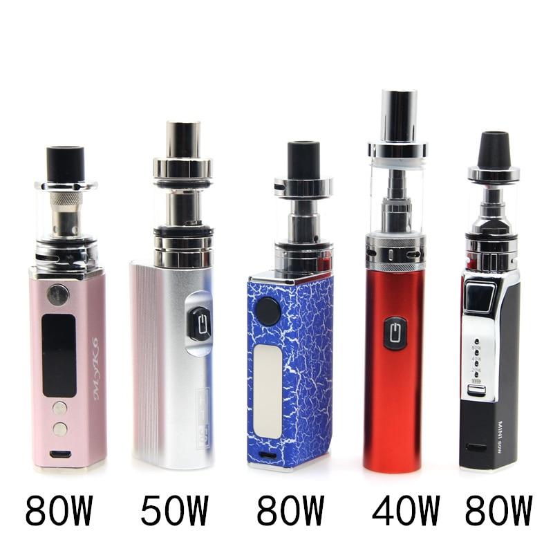 HT 50W 80W Electronic Cigarette Kit Vape Mod Box Vaporizer Hookah Vaper Shisha Pen LED Kit