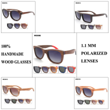 (60pcs/lot -7 Designs mixed wholesale) Wood Sunglasses Polarized Glasses – Mixed Color