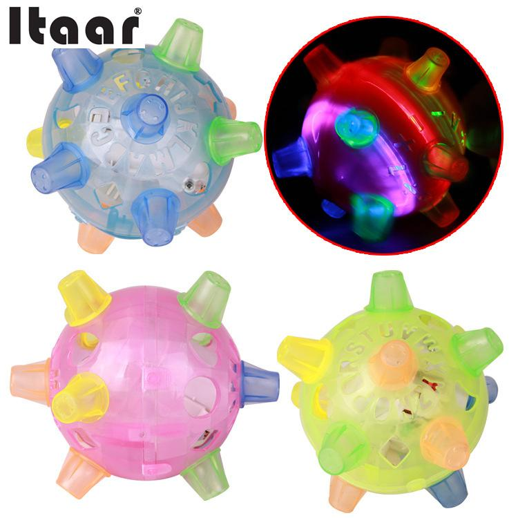 Baby Kids Creative Learning Power Gift Flash music jump rotate electric dancing ball Educational Toy Random Color