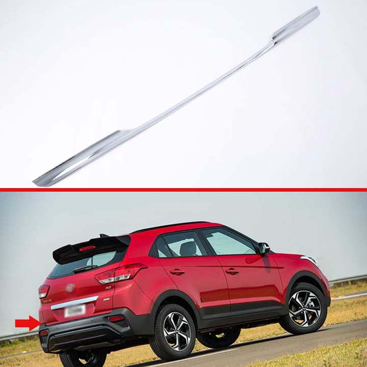 For Hyundai Creta IX25 2018 2019 Car Styling ABS Tail Gate Door Cover Trim Rear Trunk Molding Bezel Styling Sticker Garnish