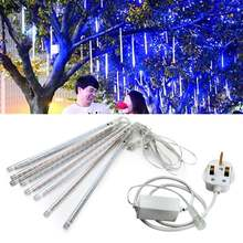 1 Set 30 CM LED Meteor Rain Tabung Cahaya Malam Strip Cahaya Natal Dekorasi Lampu W/UK Plug(China)