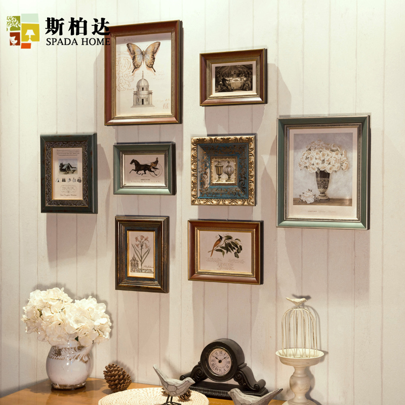 Popular wall collage photo frame buy cheap wall collage - Vintage picture frames cheap ...