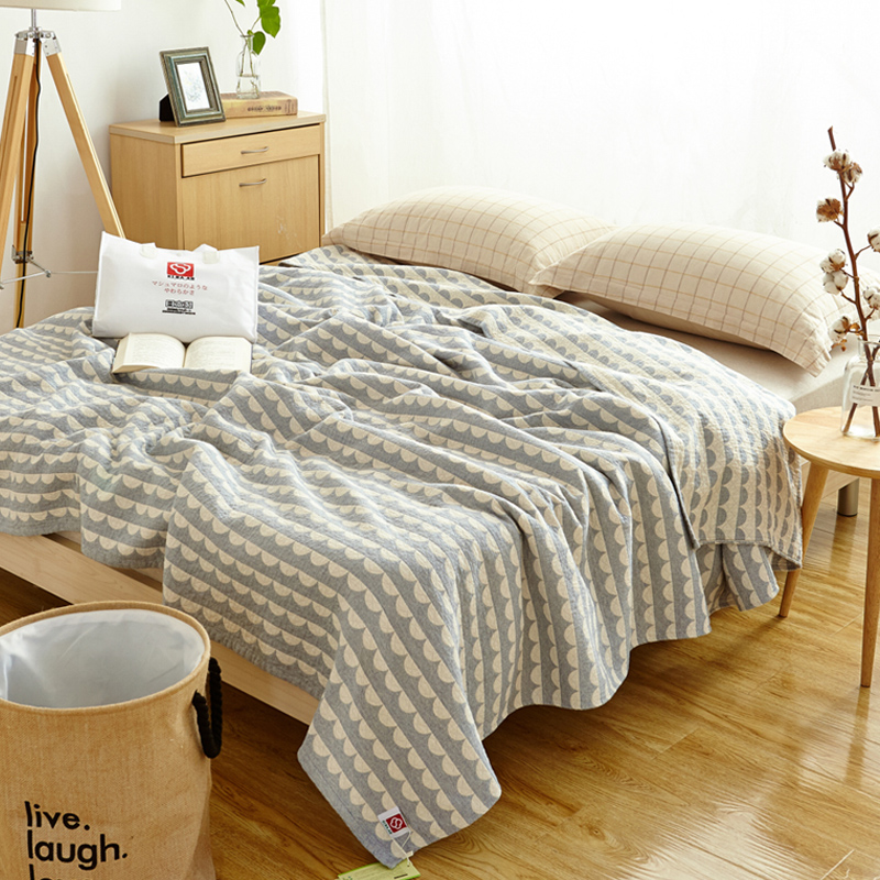 Queen size Japanese stye lSoft Cotton bedside blanket big size 200*230cm cotton comforter ,Casual Sleeping Bed Supplies