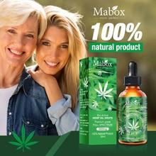 MABOX пеньковое масло, натуральное средство для сна, антистрессовый экстракт конопли, капли для боли, тревоги и снятия стресса, 2000 мг содержит КБР