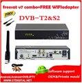 Freesat V7 Combo Original T2 del DVB s2 decodificador + wifi Receptor de Satélite Biss Clave Youtube Ccam Newca powervu freesat v7 combo