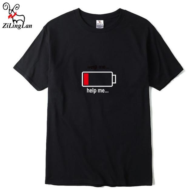 Fabelhaft ZiLingLan Grappige Print T Shirts Designer Cool T shirt Mannen @WC_05