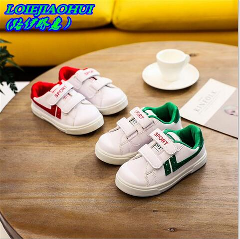 Student school shoes Kids sneakers boys girls casual shoes breathable Hook loop shoes anti slippery quality kids running shoes
