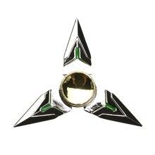 อยู่ไม่สุขปินเนอร์โลหะปลายนิ้วGyro Tri-s Pinnerมือปั่นทองของเล่นสำหรับออทิสติกป้องกันStressSpinnerของขวัญซิลเวอร์โกลด์
