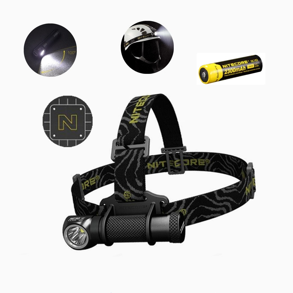 Nitecore HC30 Led Headlamp Cree XM-L2 U2 1000 Lumens Wide-beam Headlight with Nitecore NL183 18650 2300 battery ip68 waterproof headlamp hr20 cree xp l hi led 1000 lumens headlight with built in usb charger by1x18650 2xcr123a battery