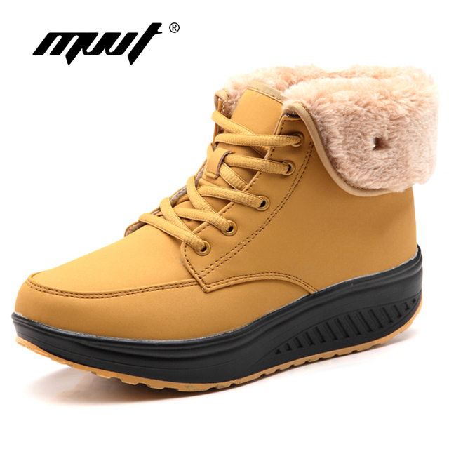 Fashion Top Quality Women Winter Boots Super Warm Platform Women Boots With Fur Outdoor Women Snow Boots