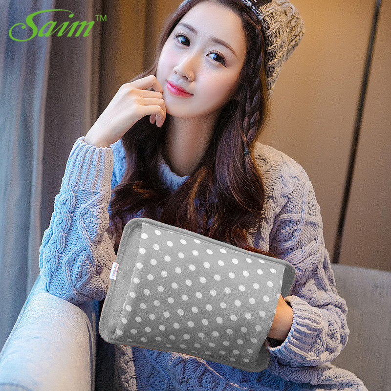 Saim Creative 220V Hot Water Bag Electric Hot Bottle Safety Hand Warmer Hot Water Bottle Hand Po Inserted Charging Hot water Bag in Hot Water Bottles from Home Appliances