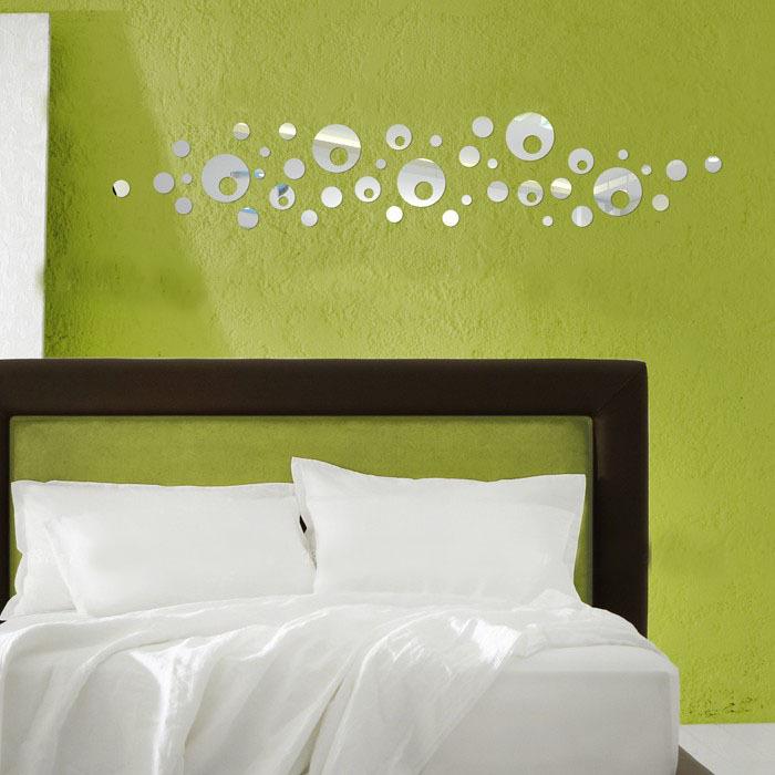 d pegatinas de pared espejo decorativo espejo de pared grande crculo y rondas moderno diseo de