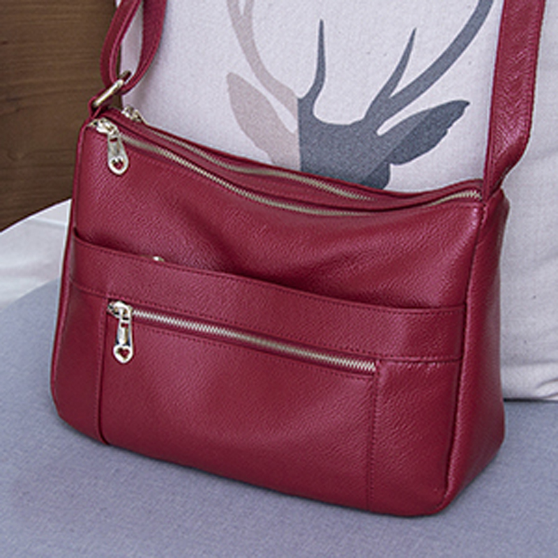2018 New style Women bag Genuine leather Women's Handbag casual fashion Shoulder crossbody bags For Women Messenger bag Female fashion genuine leather bag bolsas tassel women handbag 2015 casual crossbody bag popular shoulder bag new women messenger bags