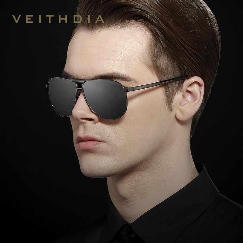 VEITHDIA Brand Classic Men's Vintage Sunglasses Polarized UV400 Lens Eyewear Accessories Male Sun Glasses For Men/Women V3028