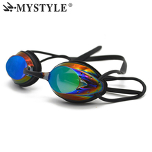 2017 NEW Brand MYSTYLE Swim Goggles Adjustable Electroplating Water Resistant Anti-fog UV Protection Swimming Goggle 5 Colors