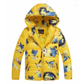 Children's Coat boys despicable me Winter Children cotton-padded jacket thick Outerwear Baby Kid's Coats