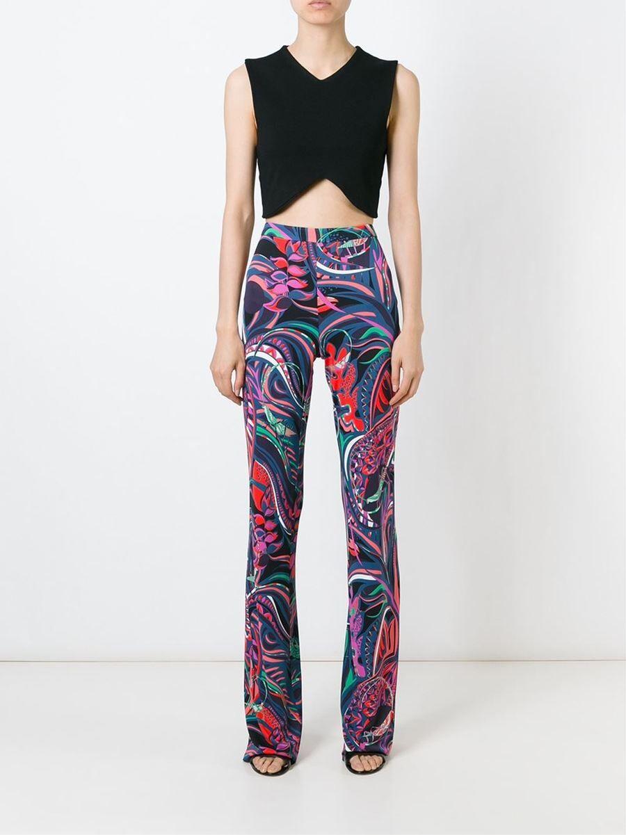 European new  perfect printed stretch slim pants slik jersey|stretch pants|european pantsprinted pants - AliExpress