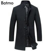 Batmo 2017 новое поступление Зима Высокое качество шерсти толстый Однобортный черный плащ мужчин, зимняя куртка, 2 цвета h8715