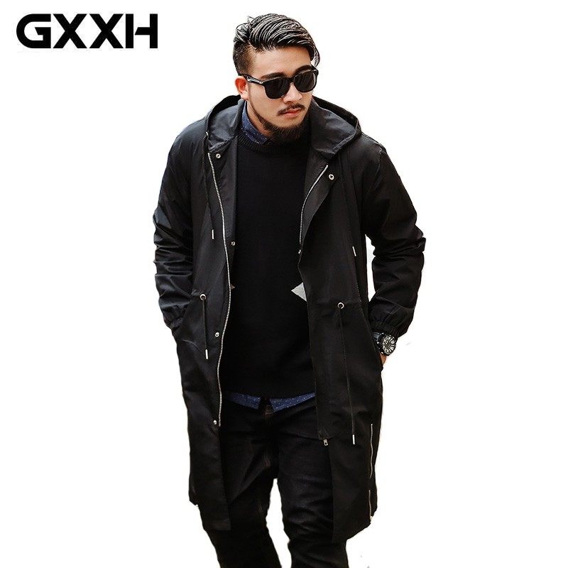 Men Jacket Coat Long Section Fashion Trench Coat New Brand Casual Fit Overcoat Jacket Outerwear
