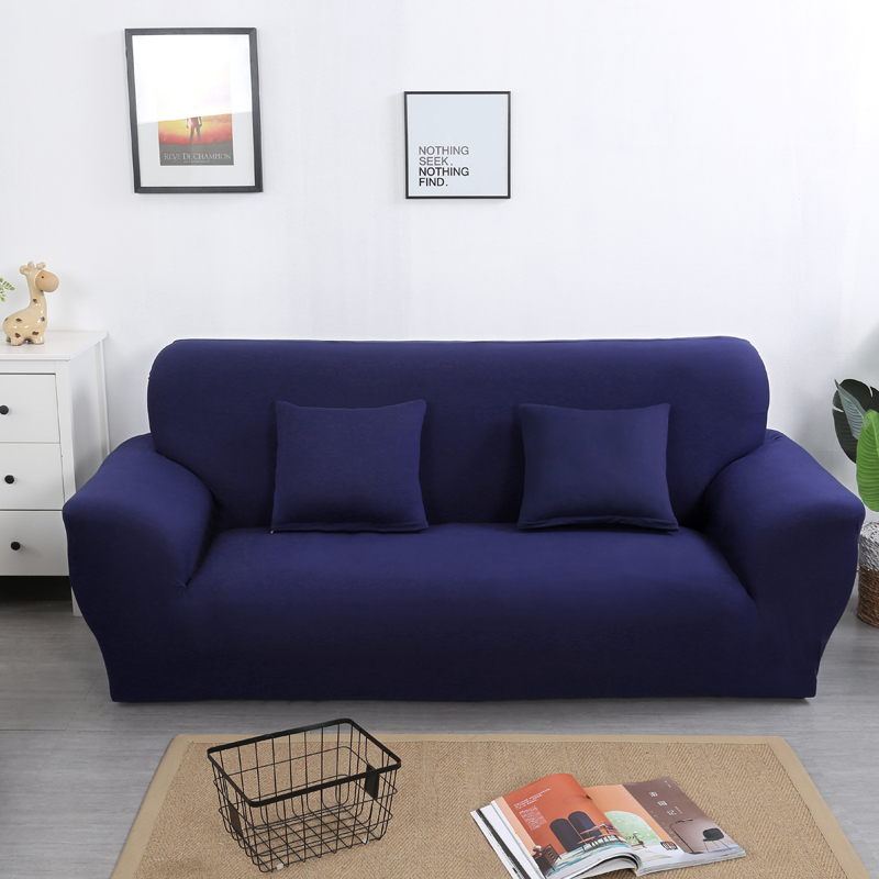 Image 5 - solid color sofa covers for living room stretch slipcovers elastic material couch cover corner sofa cover double seat three seat-in Sofa Cover from Home & Garden