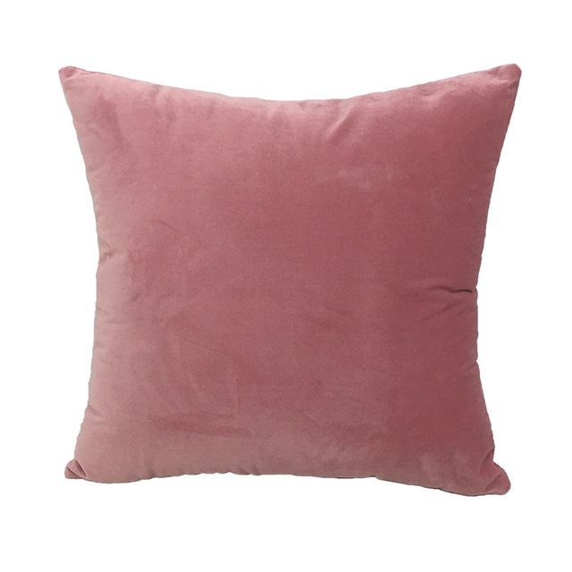 Solid Velvet Decorative Cushion Covers 5
