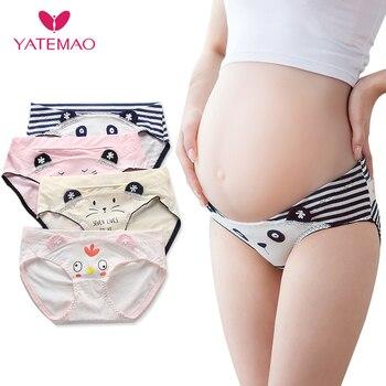 5698c11d772e YATEMAO 4 unids/lote Venta caliente maternidad bragas algodón mujeres  embarazadas ropa interior en forma de U cintura baja transpirable Panty