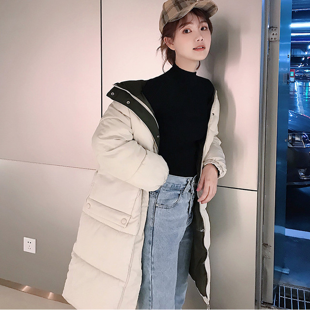 Hooded Ladies Coat Long Coats Parka oversize Colour jacket  5
