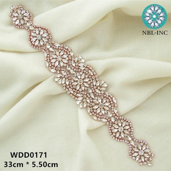 (30pcs) wedding dress silver rose gold crystal rhinestone applique iron on  for wedding dress belt WDD0171-in Rhinestones from Home   Garden on ... 0e42760c01ed
