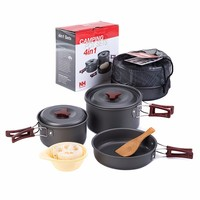 Naturehike 2 3 Person cooking set for camping outdoor tableware