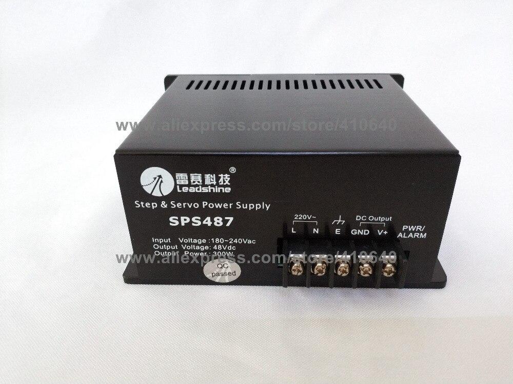 Leadshine SPS487 ультра компактный 48 VDC/7A нерегулируемый выключатель Питание с 180-250 В переменного тока Вход